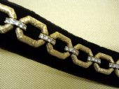 Vintage Attwood and Sawyer Gilt and Diamante Panel Bracelet (sold)